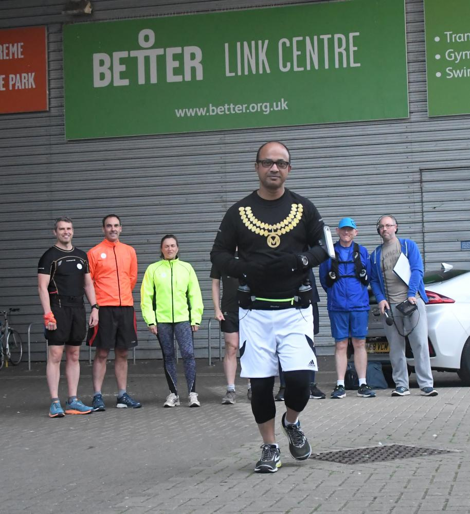 GALLERY: Mayor Junab Ali takes a marathon tour of the town for charity