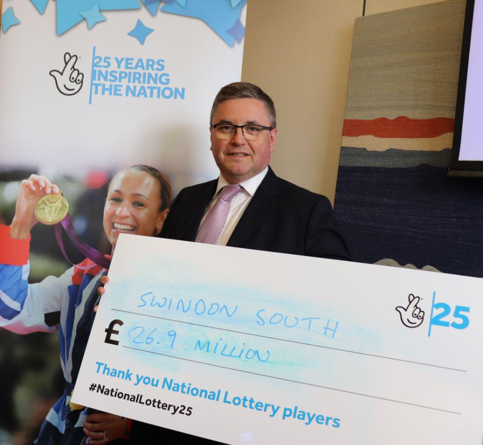 Robert Buckland MP Celebrates National Lottery Funding in South Swindon