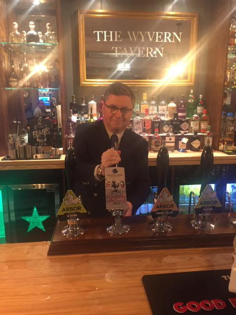 South Swindon MP Robert Buckland rolls up for pub reopening