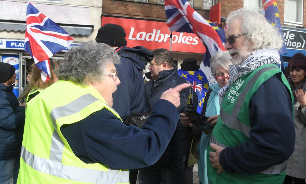 GALLERY: Protestors clash over Brexit in Swindon at the weekend