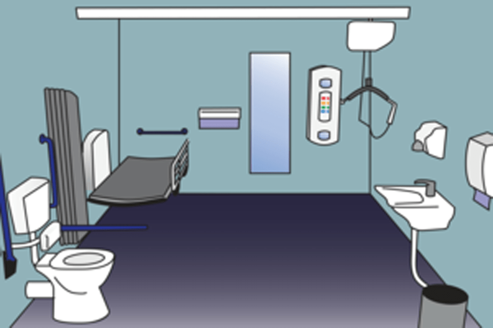 Illustration of a so-called Changing Places toilet facility