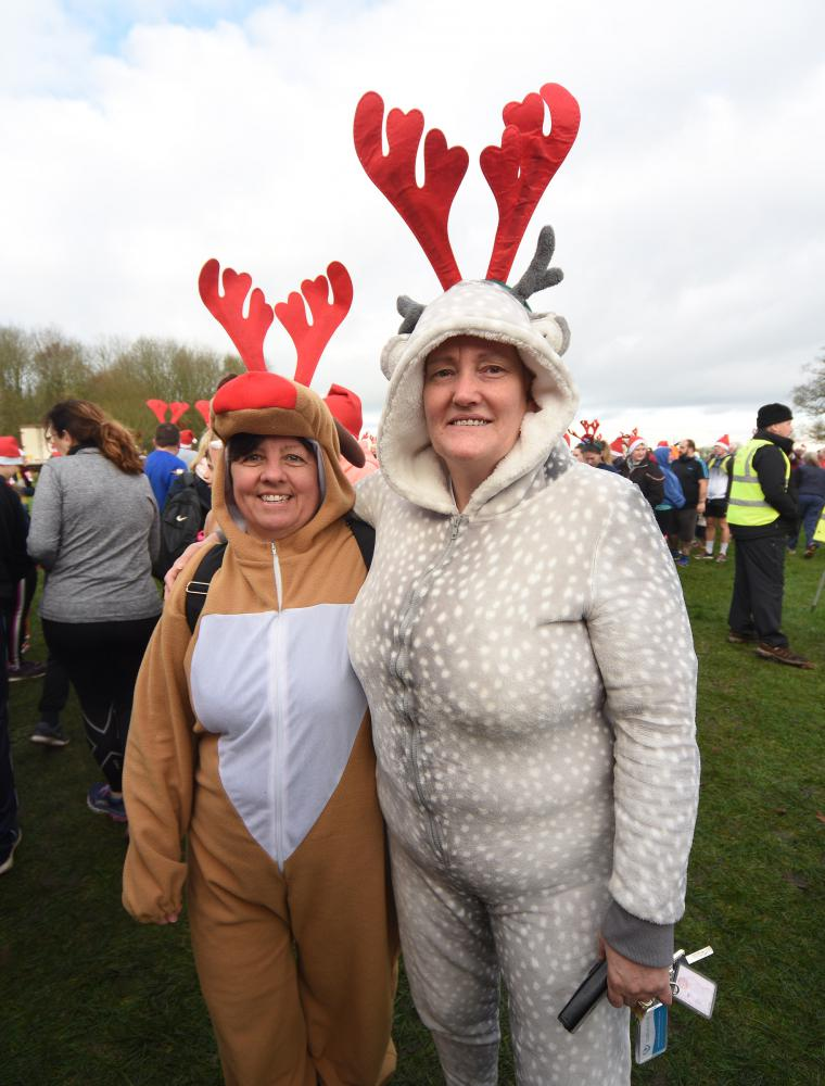 GALLERY: Santa vs Rudolph - the festive face-off at Lydiard