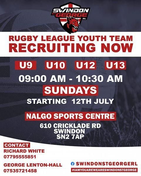 Swindon's Rugby League Youth Team are recruiting now