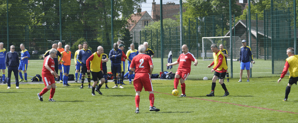 Walking football is popular among those no longer able to enjoy playing the conventional version