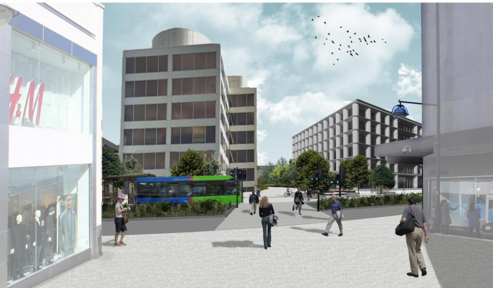 The Bus Boulevard - an artist's impression minus the underpass