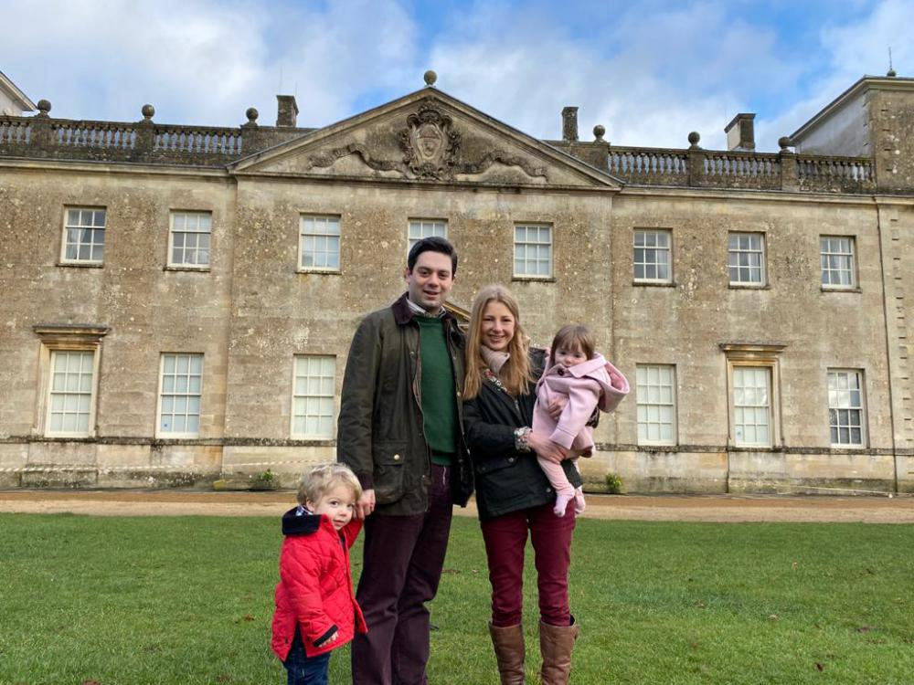 Coun Matthew Courtliff visits Lydiard Park with his family most weekends