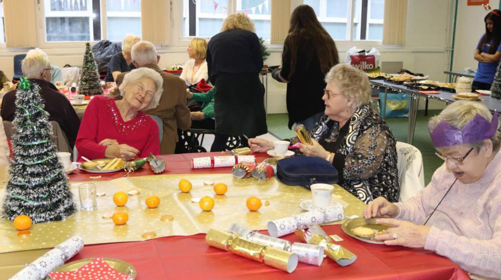 Lonely residents get an early Christmas present thanks to special party