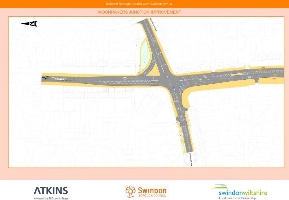 The double roundabout will become a light-controlled junction