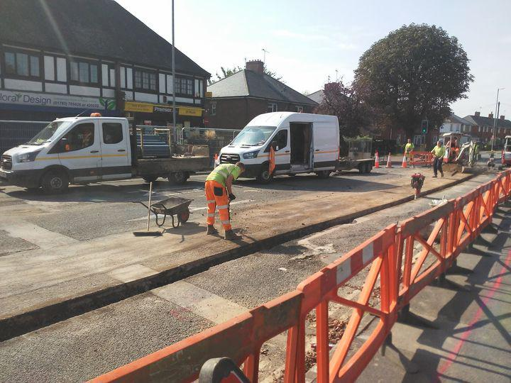 Work ramps up at Moonrakers junction as utility work comes to an end