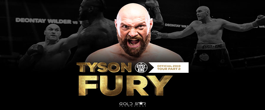 Get up close and personal with Tyson Fury at the Wyvern Theatre