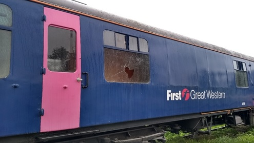 Vandals target carriages at Swindon and Cricklade Railway