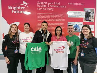 Casualty star takes on 90ft abseil for Brighter Futures charity