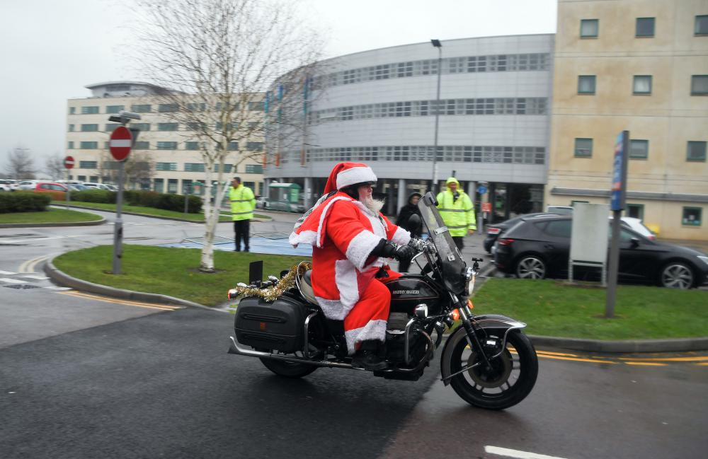 GALLERY: Big hearted bikers deliver Christmas cheer to young hospital patients