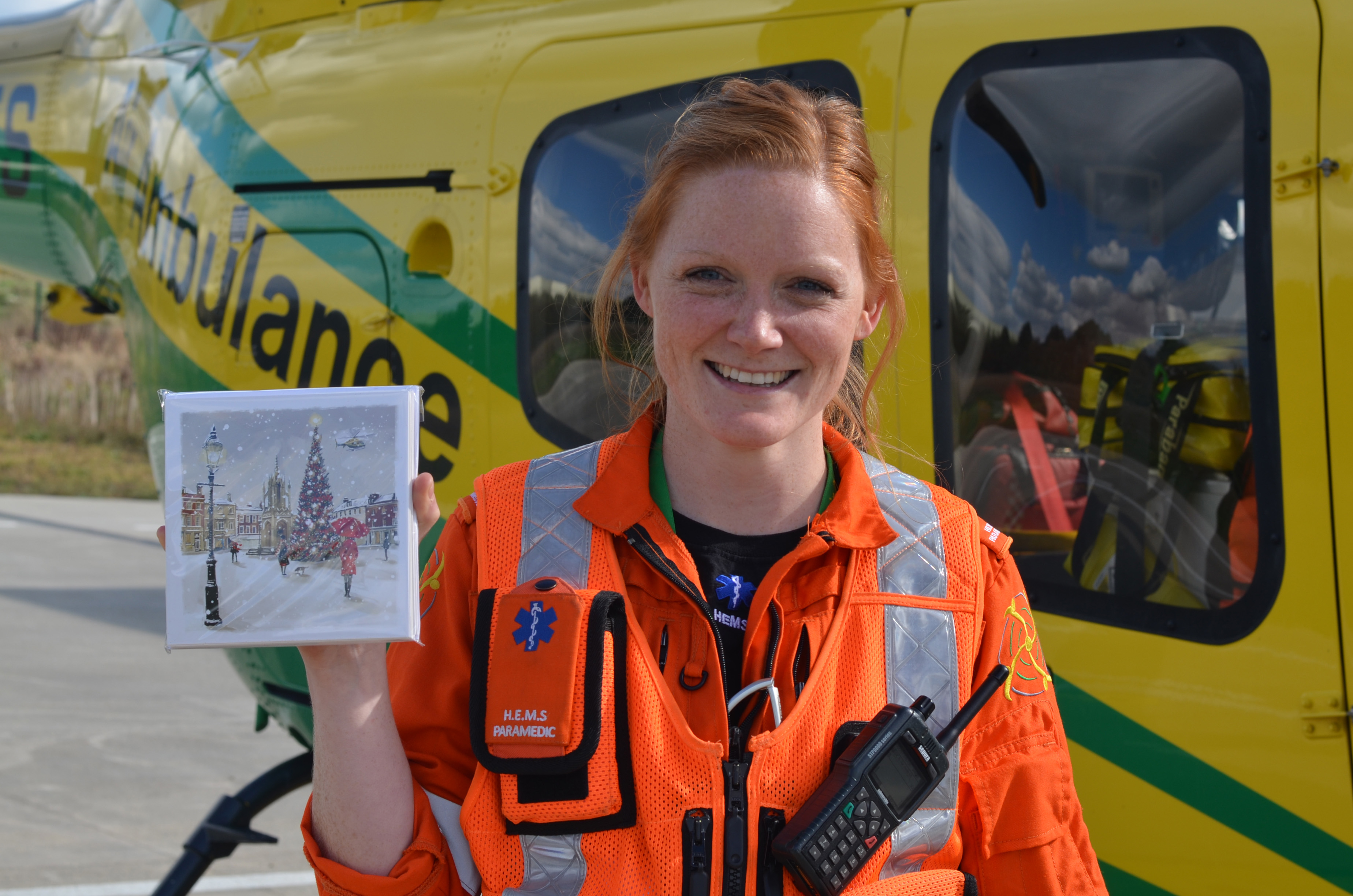 Wiltshire Air Ambulance launches this year's Christmas card