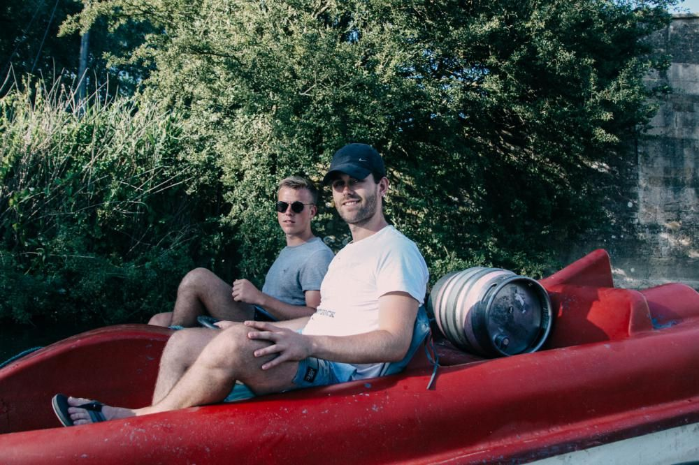 And they're off! Swindon brothers have set sail for London in pedalo