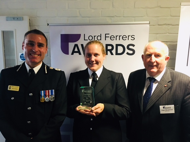 Chief Constable Pritchard with S/Supt Rachel Oaten and PCC Angus Macpherson