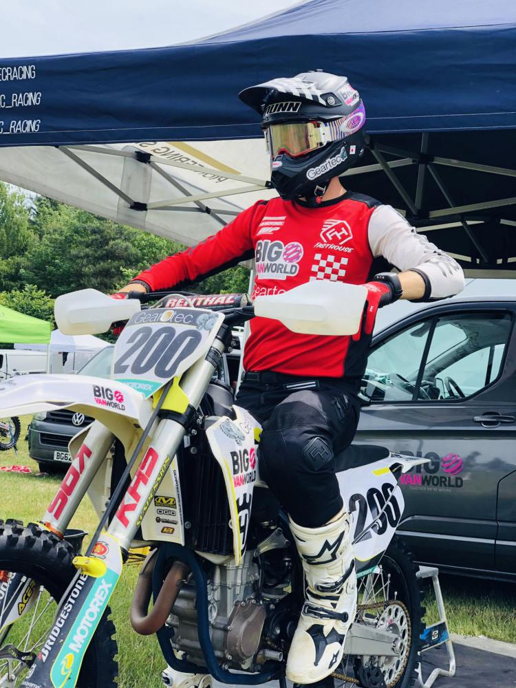 James Dunn on his motorcross