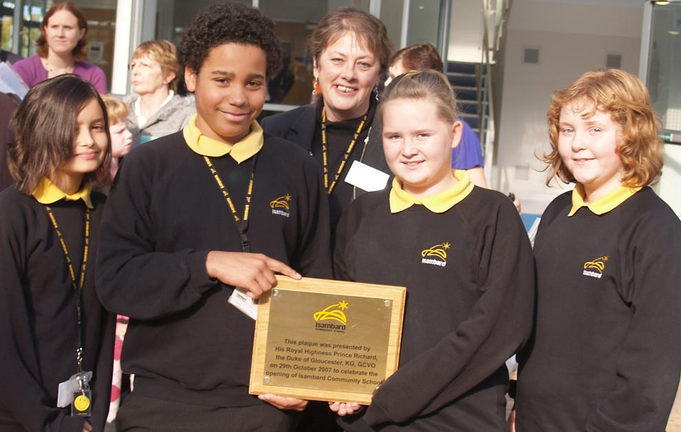 2007 October: Duke of Gloucester presents opening plaques to seven North Swindon schools