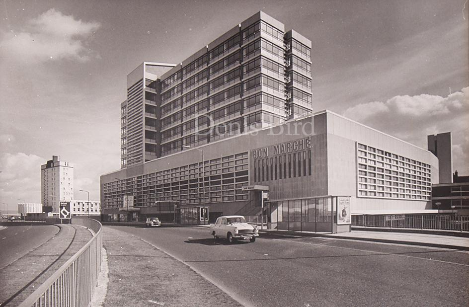 Swindon Town Centre view when new and more than 40 years later