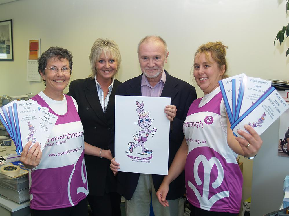 2007 November: Swindon Link exclusively reveals Mad March Hare logo to help breast cancer charity