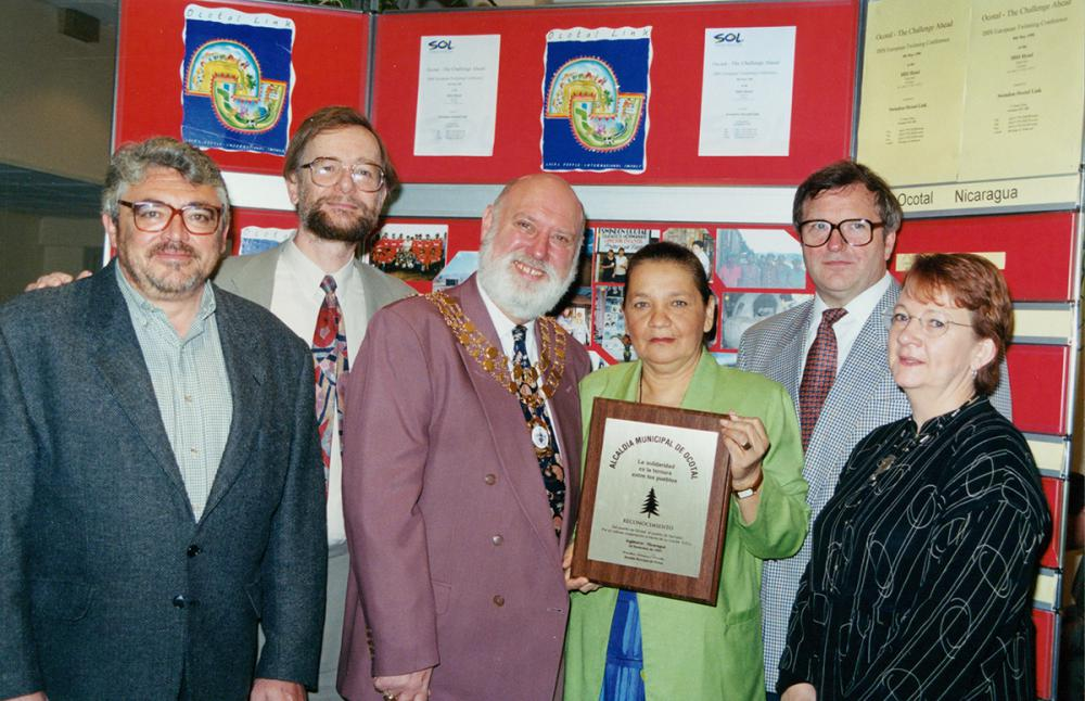 The Mayor of Swindon Maurice Fanning with the Mayor of Ocotal and members of Swindon Ocotal Link. Bruce Clarke is pictured second from left.