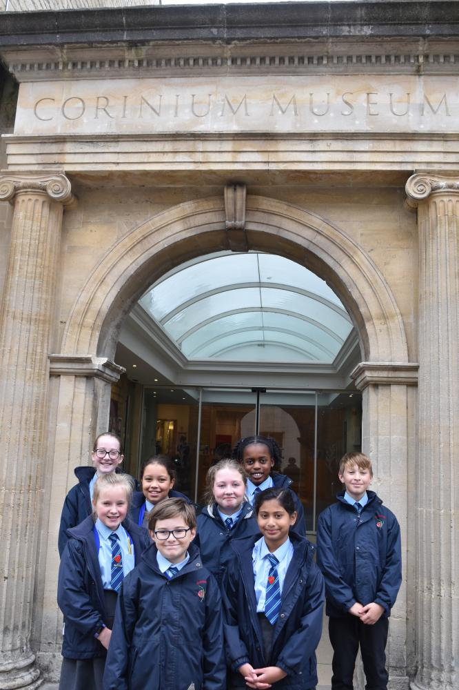 Meadowpark pupils unearth history with trip to the Corinium Museum