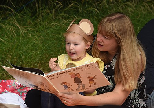 If you go down to the woods today... youngsters enjoy teddybears' picnic at Abbey Meads Nursery School